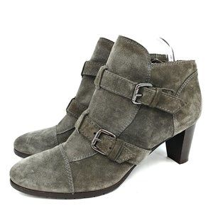 Mauro Teci Made in Italy Gray Suede Ankle Boot